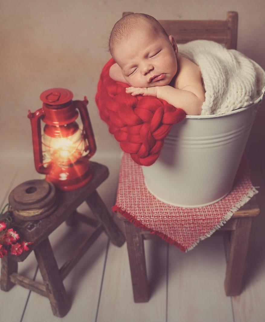 Babybild Eimer